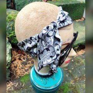 Boss Babe, COACH, silk, logo scarf!!